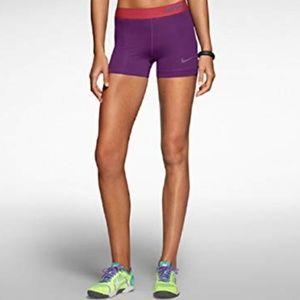 "Nike Womens 3"" Pro Core Compression Shorts Large"